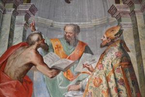 Presbiterio, particolare della disputa sulla Immacolata Concezione