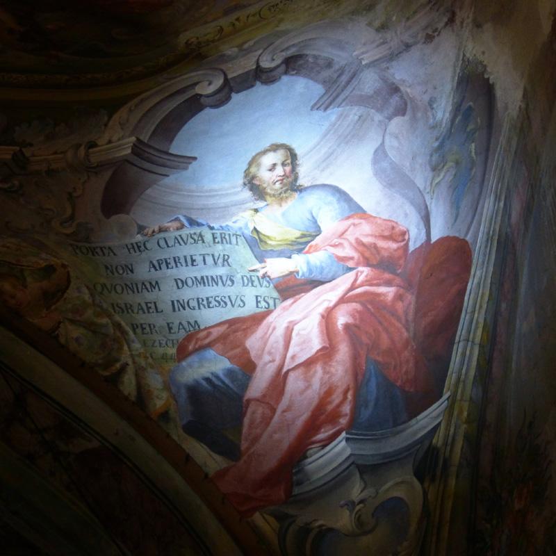 Dipinto Profeta Cupola di Santa Croce Ivrea