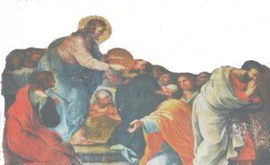 Giuseppe Stornone, Comunione degli Apostoli, olio su tela riportata su supporto ligneo, 1871