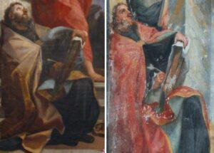 Confronto tra il Sant'Agostino di Maratta ed il Sant'Agostino nella chiesa di Santa Croce