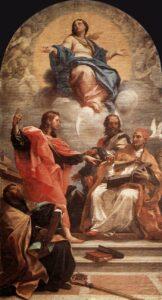 Carlo Maratta, Disputa sulla Immacolata Concezione, 1686, chiesa di Santa Maria del Popolo, Roma
